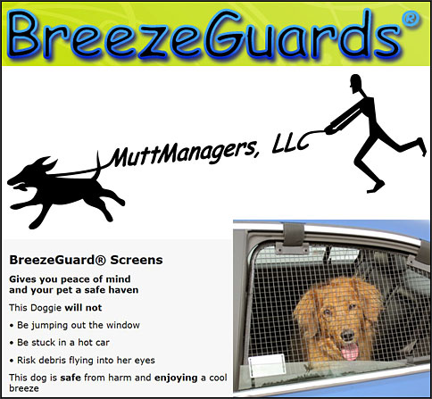 MuttManager makes BreezeGuards Dog Car Safety  Safety