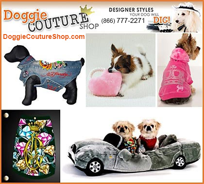Sponsor of Dog Fashion is Doggie Couture Shop