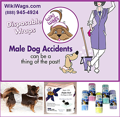 WikiWags Disposable Wraps for Dogs